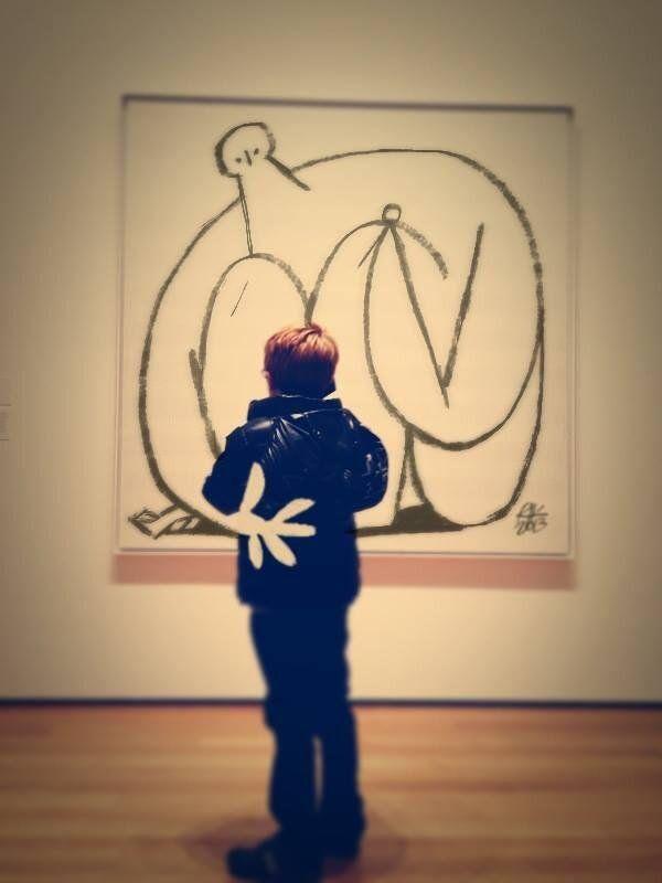"Riccardo Guasco @mumblerik  29 мая 2013 г. ""pensiero di bambino su tela monocroma del MoMA"""