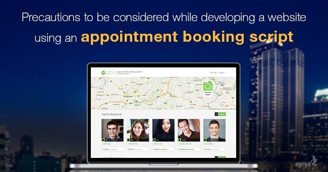 Moving away from the traditional booking process, an appointment booking website has foolproof potential to serve, a diverse classification of businesses and services.Read more... http://www.clonescripts.co/2016/06/precautions-to-be-considered-while-developing-appointment-booking-website.html