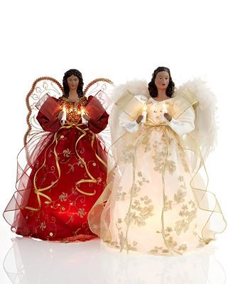African American Christmas Angels Dolls Christmas Tree Toppers