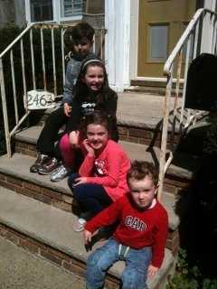 Irish  Clan Apr,2012  Killian,Kirsten,Niamh and Dylan