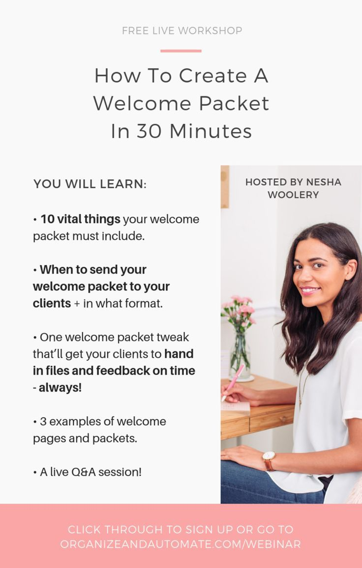 How To Create A Welcome Page In 1 Hour Nesha Woolery Welcome Packet Web Design Tips Business Marketing Design