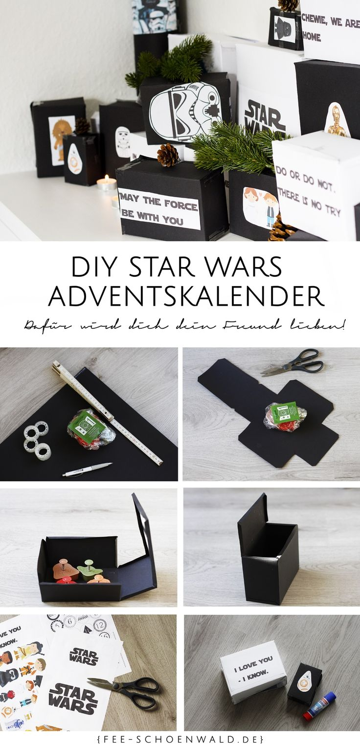 Fairy Schoenwald German Fashion Lifestyle Blog DIY Tutorial Star Wars Calendar for Men DIY Make Christmas
