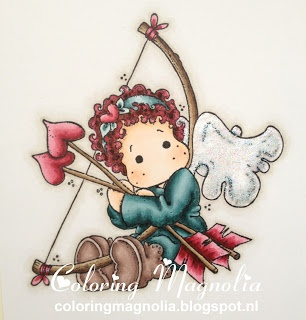 Coloring Magnolia Stamp 2013 With Love Collection - Tilda With Heart Arrow Copics: Haar: R29-R89-0 Huid: E21-E00-E000-E93 Kleding en laarzen: BG78-BG75-BG72-BG70 -- E77-E74-E71 Pijl en boog: E49-E47-E44-E43 -- R89-R85-R83 Vleugels: B0000 Achtergrond Schaduw: W3-W1-W00
