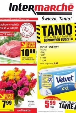 Już od jutra nowe promocje w Intermarche m.in. bukiet róż z okazji Dnia Kobiet w cenie 7,99 zł