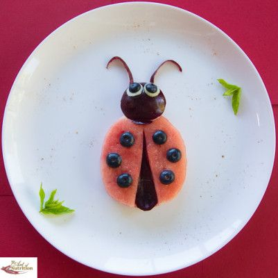 Healthy party food for children ladybird ladybug
