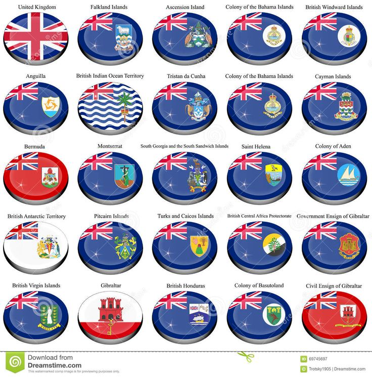 british abroad | British Overseas Territories (BOT) And Colonies Flags Stock ...