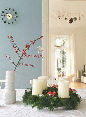Unser Kranz  #solebich #interior #einrichtung #weihnachtsdeko #christmasdecorations #adventskranz #advent Foto: HotchocolateDrop