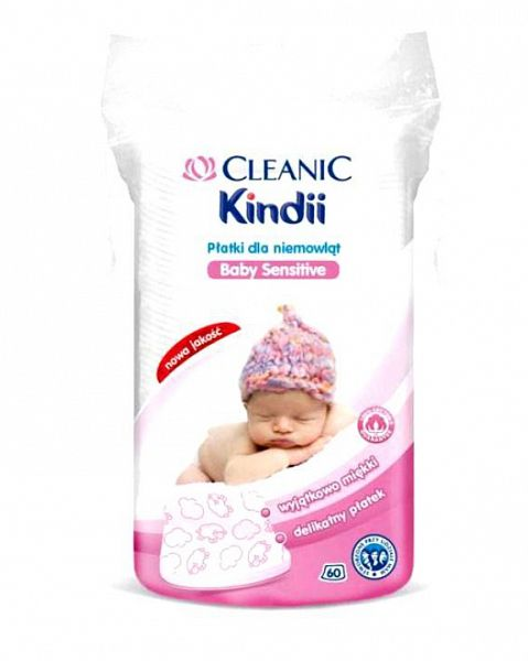 Ватные диски для младенцев Кинди 60 шт Cleanic  купить в Москве и Санкт-Петербурге - интернет-магазин детских товаров BABADU