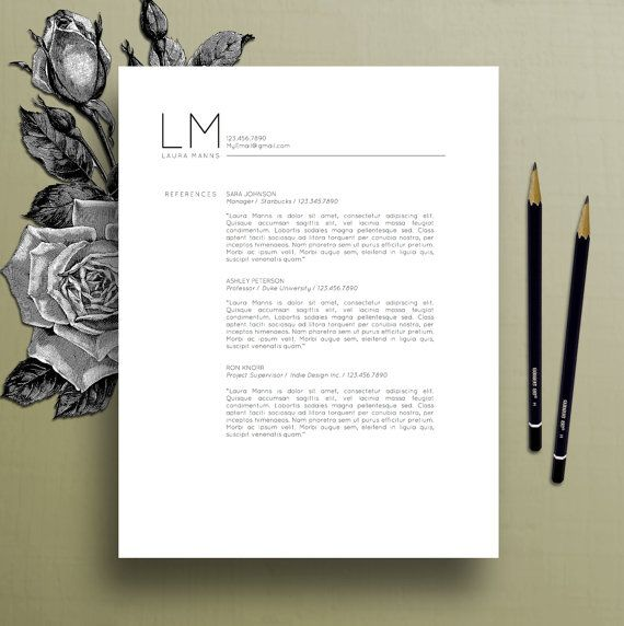 modern resume template cv template cover letter references ms word mac pc professional resume template instant digital download laura - Lebenslauf Word Download