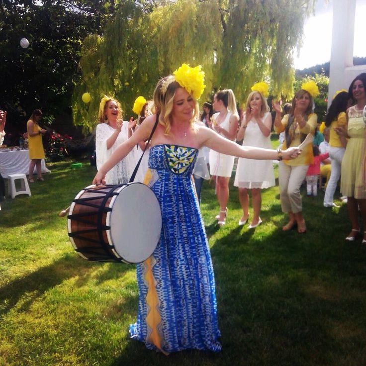 Konsept sarı- beyaz ev Yapımı parti :)