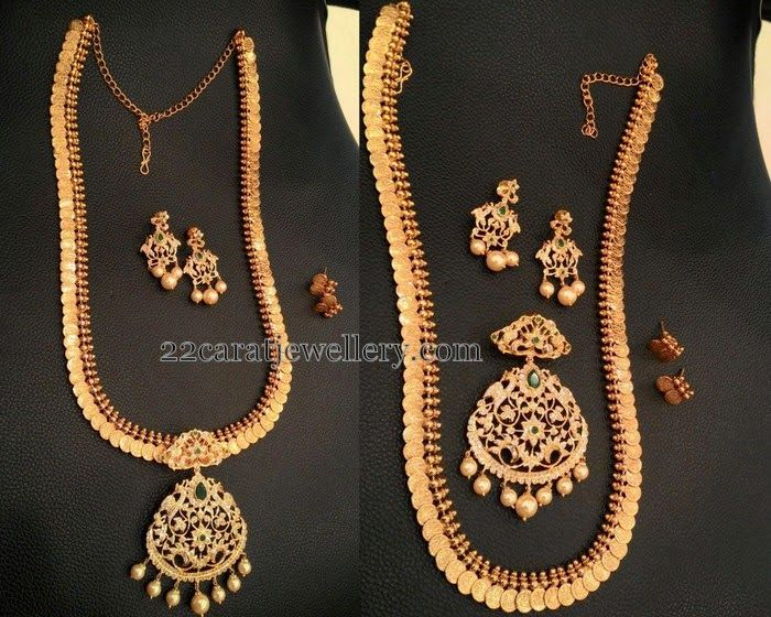 Jewellery Designs: One Gram Gold 3 in 1 Kasu Mala