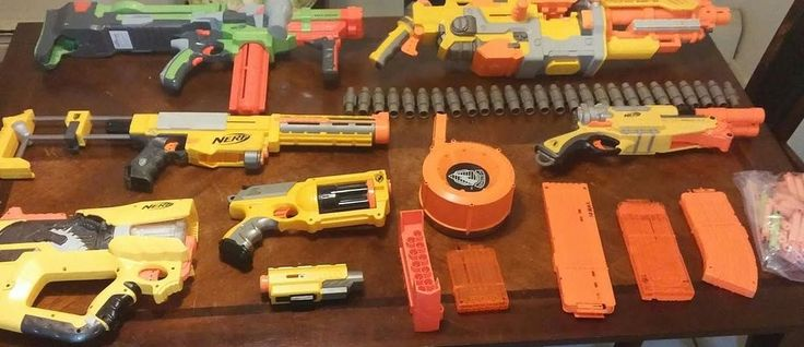 NERF guns and accessories huge lot 15 vulcan maverick barrel break vortex nitron #NERF