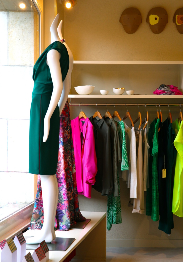 Mannequins in our store are a representation from Ruben Toledo of his wife  designer Isabel Toledo