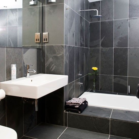 7 best wet room ideas images on pinterest bathrooms for Slate wet room