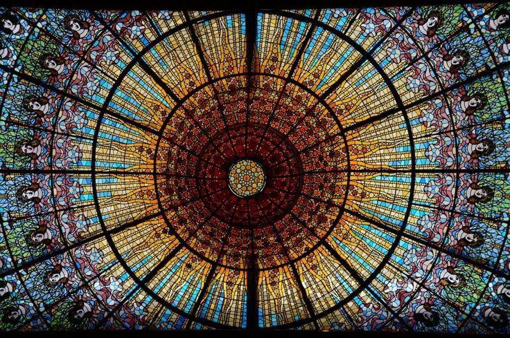 Coupole du Palais de la musique catalane, Barcelone