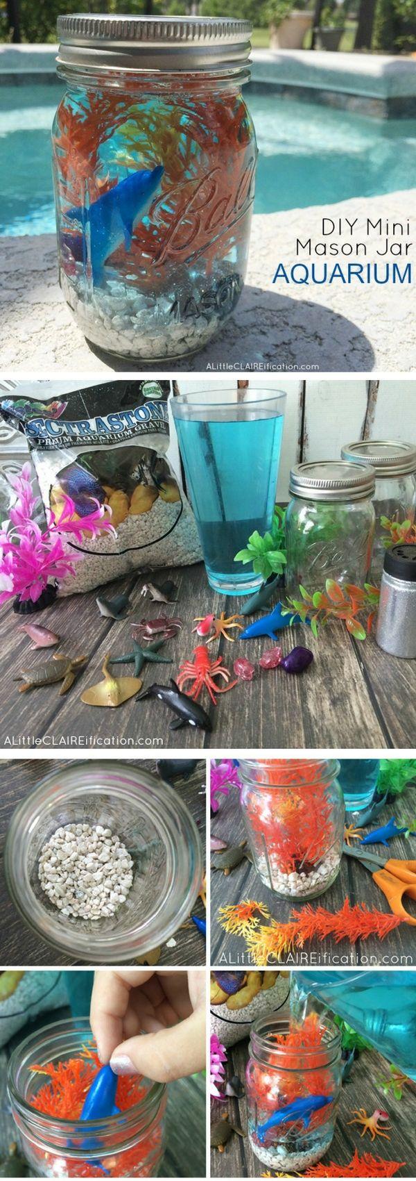Check out how to make a DIY mason jar mini aquarium @istandarddesign