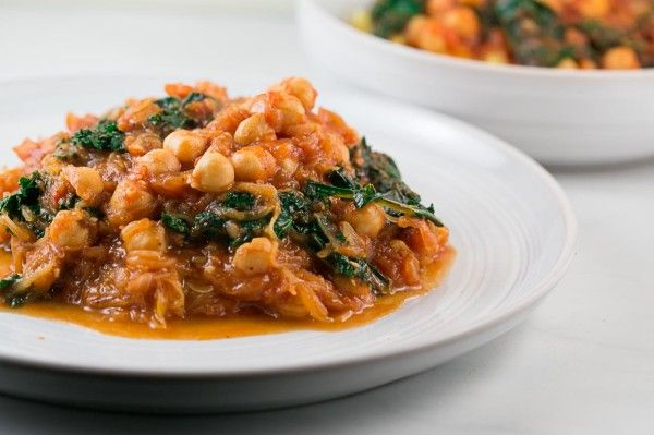 Chickpea and Kale in Tomato Sauce with Spaghetti Squash recipe by ...