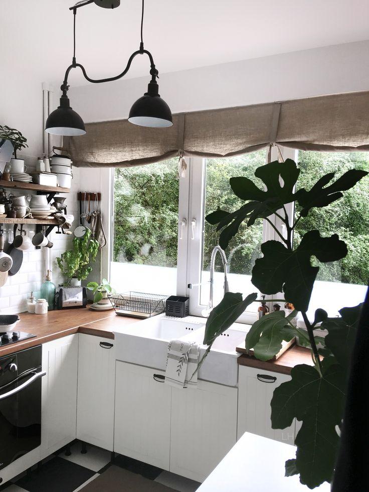 Instagram lavien_home_decor Vintage kitchen, vintagestyle,white kitchen