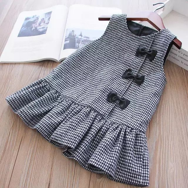 70f9d1a090b7 Año Nuevo trajes para niñas Plaid vestido de invierno vestidos de ...