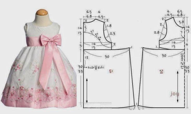 Este vestido de criança é belo fácil de fazer e as meninas vão adorar vestir. As medidas facilitam a construção do molde. Aquiencontra o molde base de cri