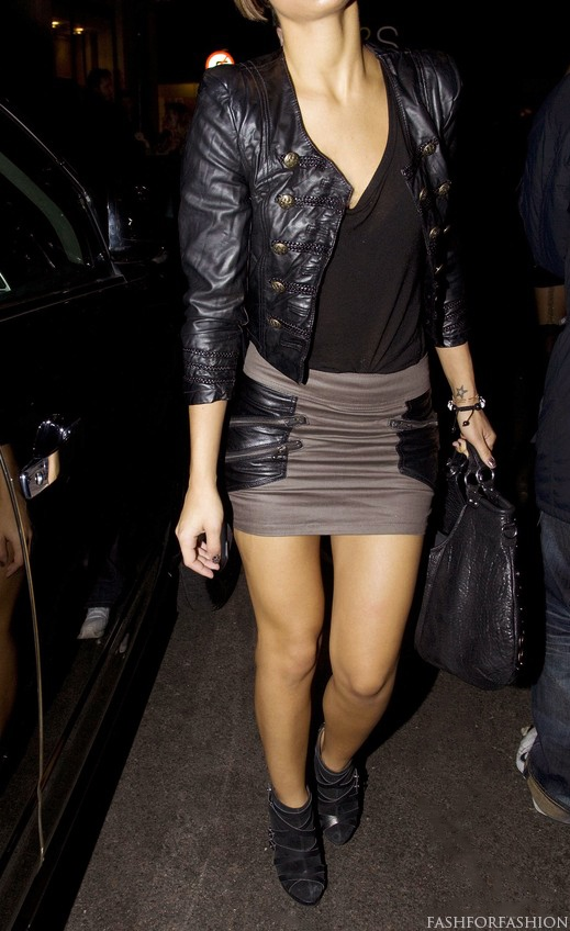 Black leather jacket Faux leathers and other materials sold at http://www.mjtrends.com/categories-Faux-Leather,Fabric