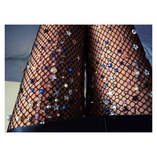 Embellished Fishnet Tights from Lirikas By Lirika Matoshi ❤ liked on Polyvore featuring intimates, hosiery, tights, fishnet stockings, lingerie stockings, embellished tights, fishnet tights and fishnet pantyhose