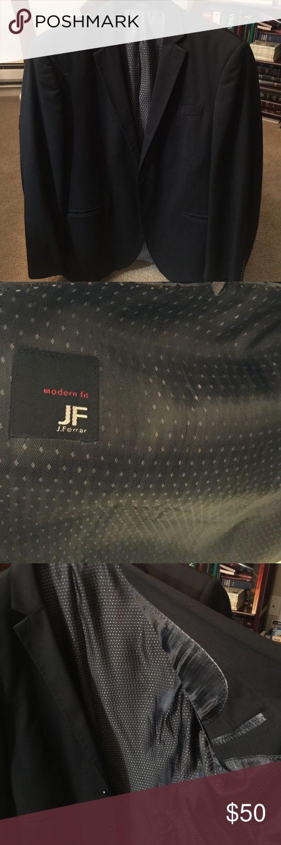 Pict j ferrar modern fit 1 - Men S Black Sport Coat Men S Black Sport Coat J Ferrar Chest Size 42s