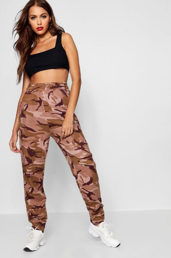 6714f2c0df53 Camo Sweat Jogger - boohoo how to wear, how to style, outfit ideas, pant  ideas, how to wear trousers