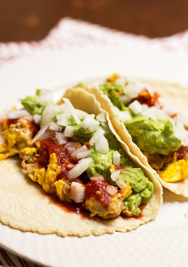 Breakfast Tacos Eggs Chorizo Guacamole And Red Chile From Mj S Kitchen Recipe Breakfast Tacos Vegetarian Breakfast Recipes Best Egg Recipes