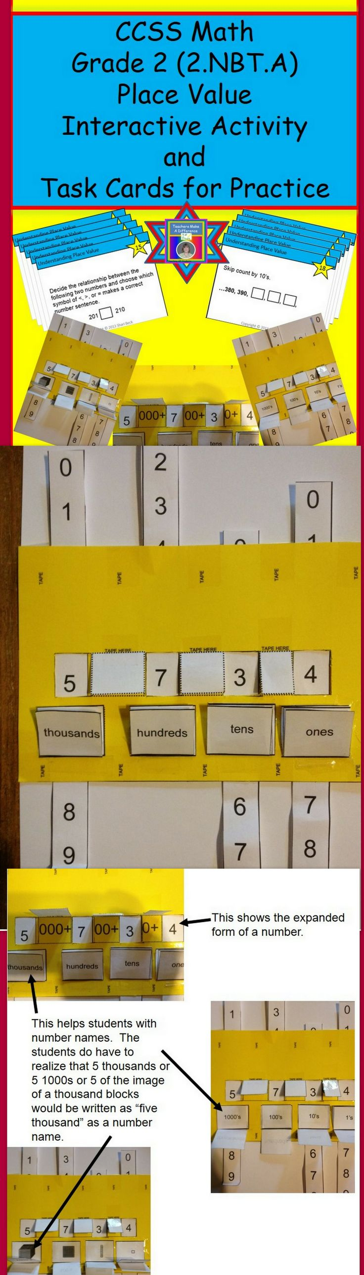 Interactive Notebook Place Value Activity Set With Task