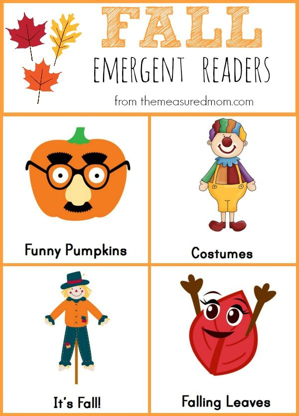 Fall Emergent Readers the measured mom Free Fall Emergent Readers. Fun pumpkin books and great fall books to make. Make these simple books for fall. Great for beginning readers.