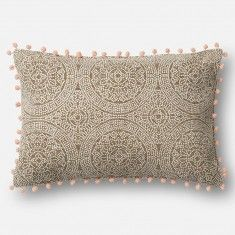Loloi Magnolia Home Pillow Taupe Pink Magnolia Homes
