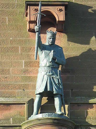 King Robert the Bruce statue.