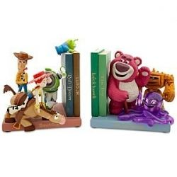Repurpose toys into bookends in playroom? I like that idea!: