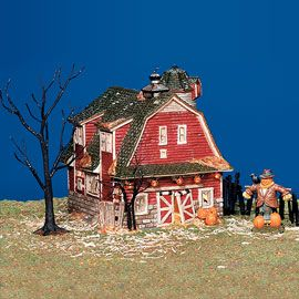"""Department 56: Products - """"Haunted Barn"""" - View Lighted Buildings"""
