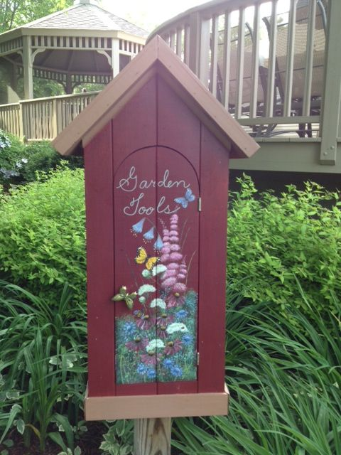 decorating garden sheds very