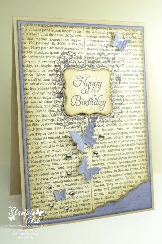 Pretty handmade card.