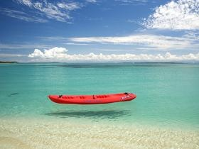 Kayak on the sea, Isla Bastimentos National marine Park, Panama