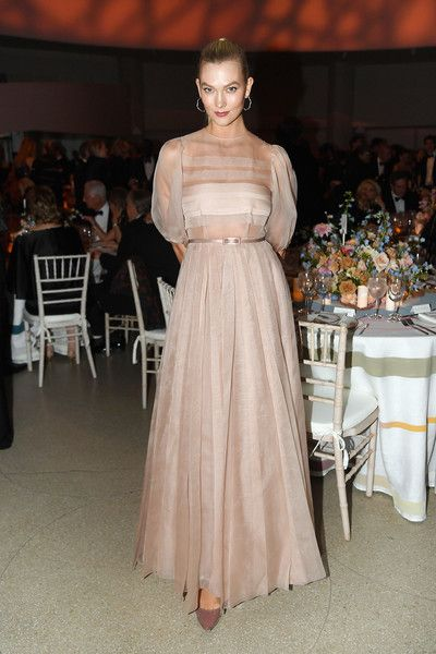 Karlie Kloss Evening Dress - Karlie Kloss was demure in a pale pink ball  gown by Dior Couture at the Guggenheim International Gala Dinner. d6daf8d9d25d0
