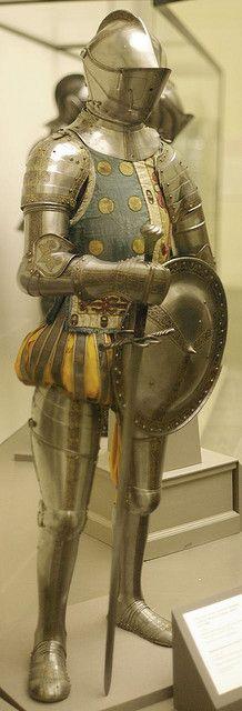 Don Quijote llevaba una armadura.