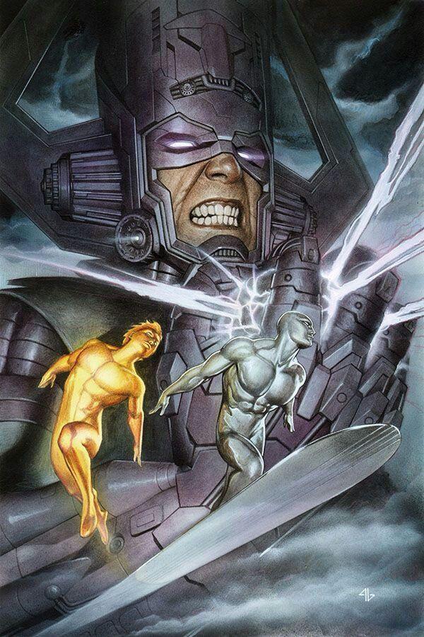 Galactus, Firelord and Silver Surfer, Adi Granov