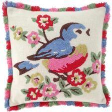 cute little bluebird pillow
