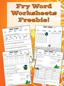 Fry Word Activities FREEBIE