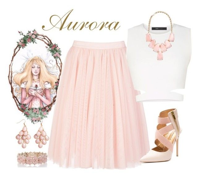 """""""Aurora"""" by violetvd ❤ liked on Polyvore featuring Disney, Ted Baker, BCBGMAXAZRIA, Kendra Scott, Oasis and H&M"""