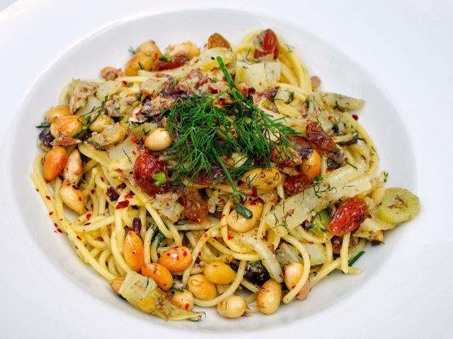 Szicíliai szardíniás spagetti
