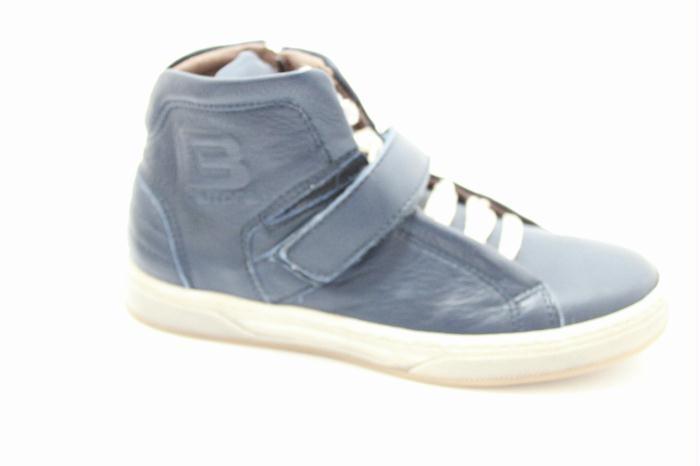 schoenen en kinderschoenen : Cole bounce restore sneaker in calfskin dark blu leather