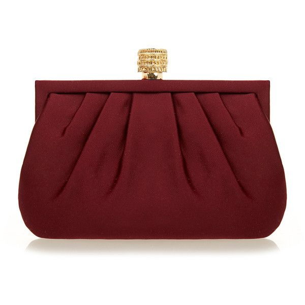 Wilbur & Gussie Lily Colosseum Burgundy Silk Clutch Bag ($175) ❤ liked on Polyvore featuring bags, handbags, clutches, burgundy, red handbags, burgundy purse, chain purse, burgundy clutches and lily handbags