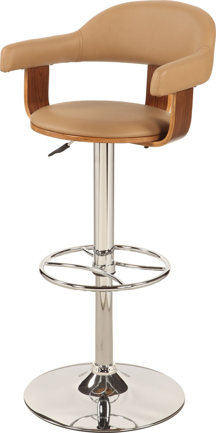Upholstered Back Pneumatic Swivel Stool In Taupe