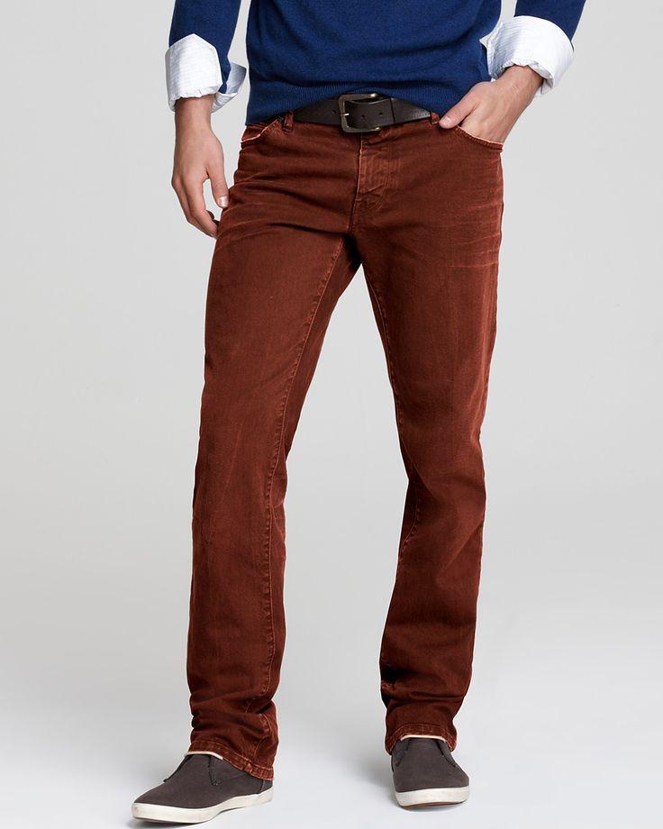 Hugo Boss. Boss Orange. Jeans. Barcelona. Straight Fit. In Red Blood Orange. #mens #fashion #pants #trousers #jeans #color #colour #trend #red #bloodorange #orange
