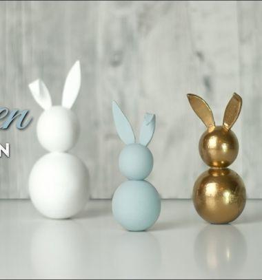 Easy DIY Styrofoam ball bunny - Easter decoration // Golyó nyuszi - egyszerű húsvéti dekoráció házilag // Mindy - craft tutorial collection // #crafts #DIY #craftTutorial #tutorial